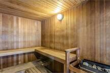 Newly refurbished sauna