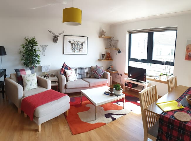 Scottish Vibes: Cosy Top-floor Flat (free parking)