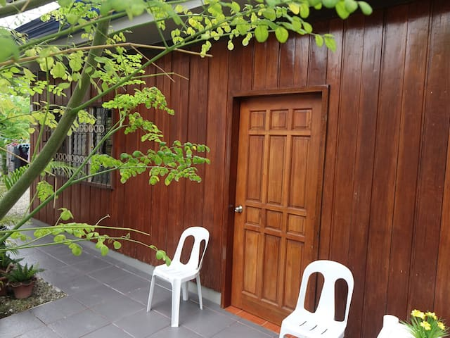40 sq mtr AirCon Wooden Chalet Close to Ocean