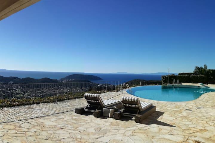 Pool side sea view