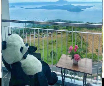 Tagaytay TAAL VieW@Wind resdnce WiFi/Ntflix/prking