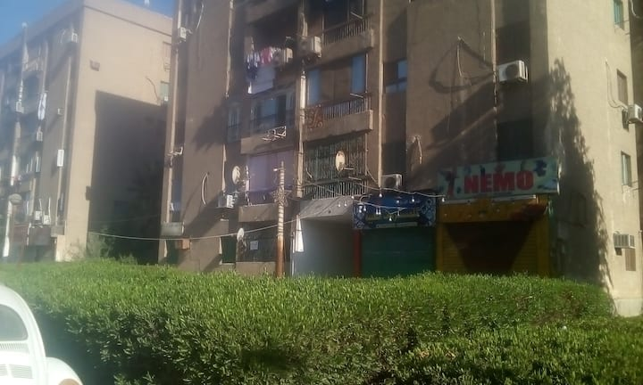 has garden and parking near to Cairo Festival City