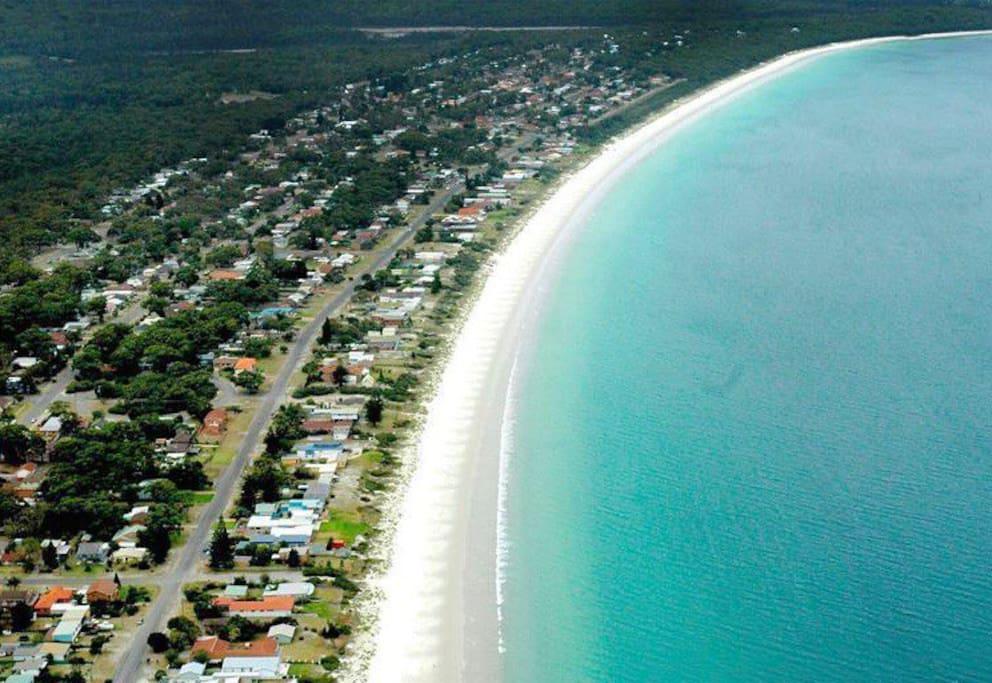 Aerial shot of Callala Beach