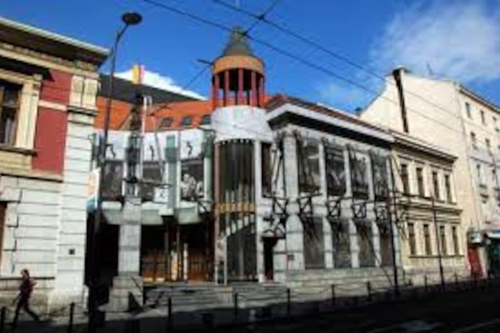 Theatre 212 Svetogorska 21, near the building Svetogorska 19.