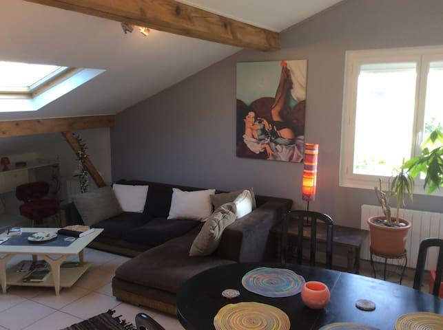 Chambre avec superbe vue Pyrennees - Lons - Apartment