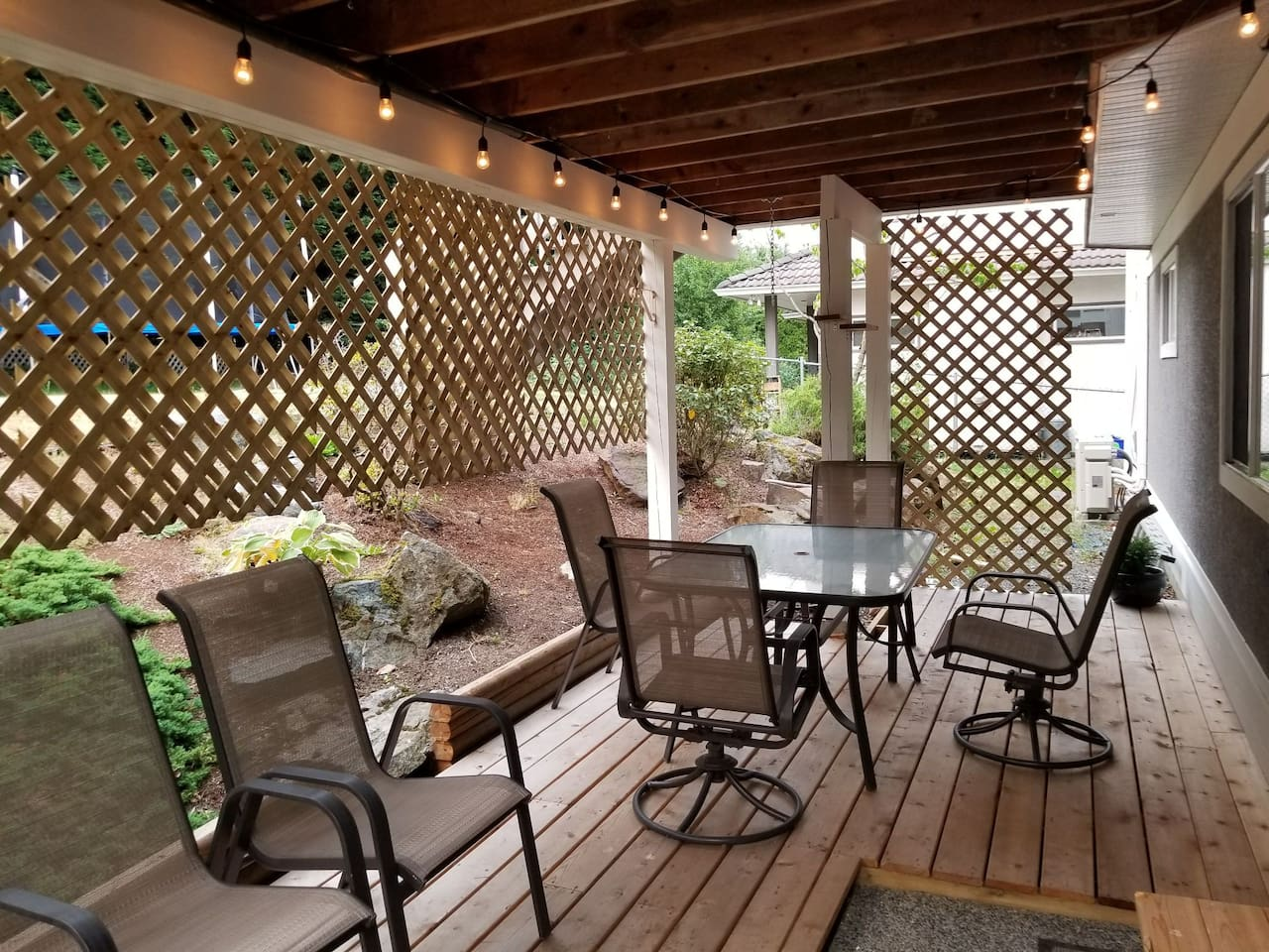 Your entrance to an outside patio.