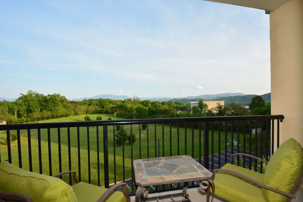 Enjoy the balcony view with your first cup of morning coffee!