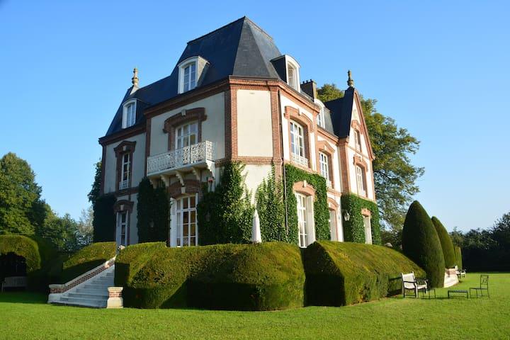Chambre de Jaspe BNB Château - Bouelles - Oda + Kahvaltı