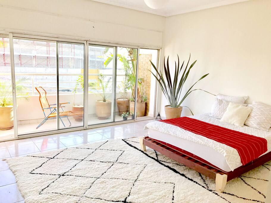 Chambre avec grand balcon