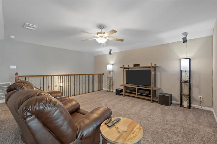 Movie/Theater Room - Ashley Furniture Recliners and side tables
