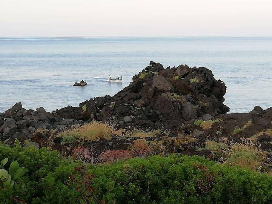 pescatori davanti casa