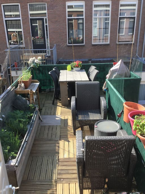 Enjoy the biggest terrace in the street