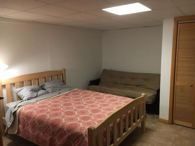 Bedroom 4 -  Queen bed in the finished basement with a double futon as well
