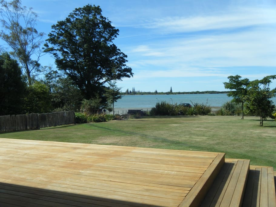 Deck with great estuary view