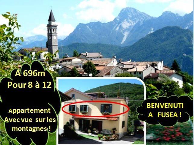 A 696m d'altitude à 8 en Famille ou entre Amis ! - Fusea - Huis