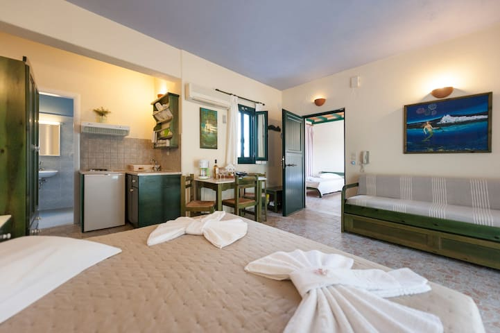 Studio for 5, 50m from the sea - Paros, Greece #1