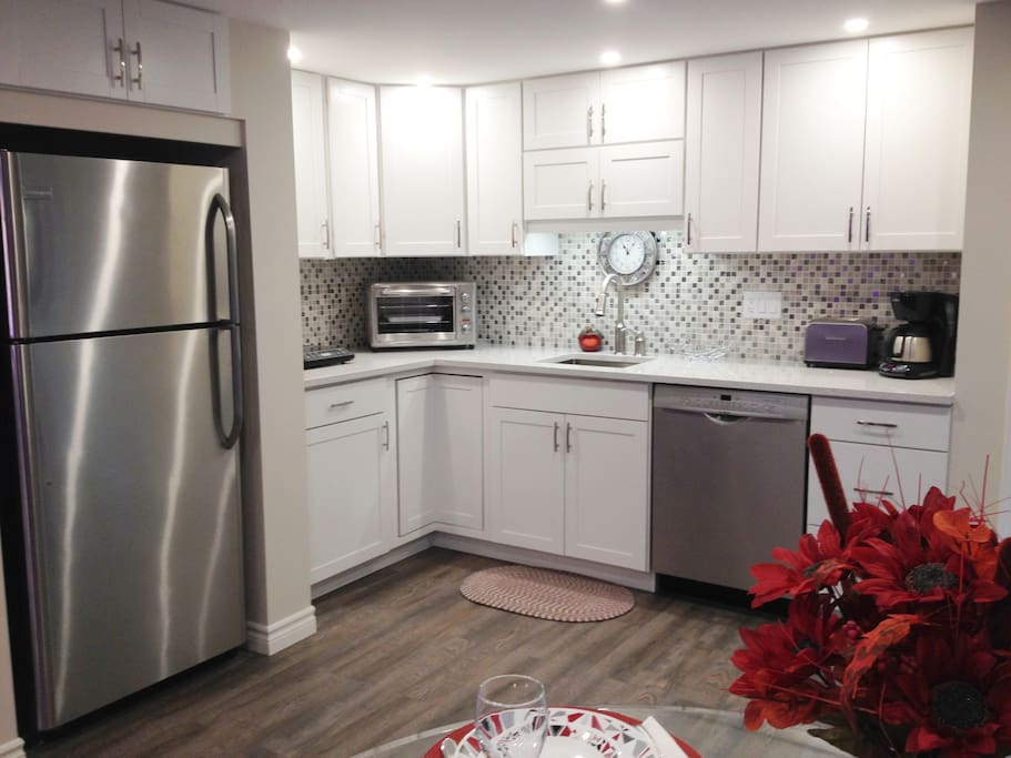 Modern & Stylish Kitchenette With All The Appliances Etc. You Will Need