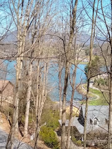 View of the lake from our deck