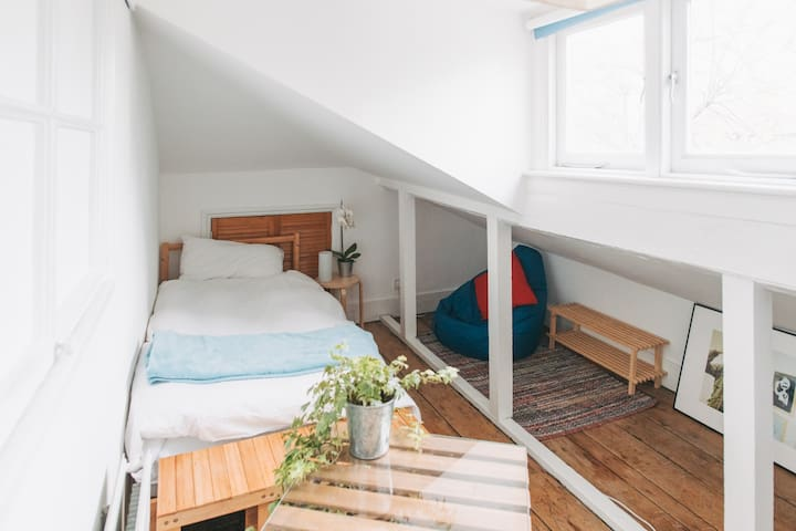 Simple, nice and clean quirky attic room