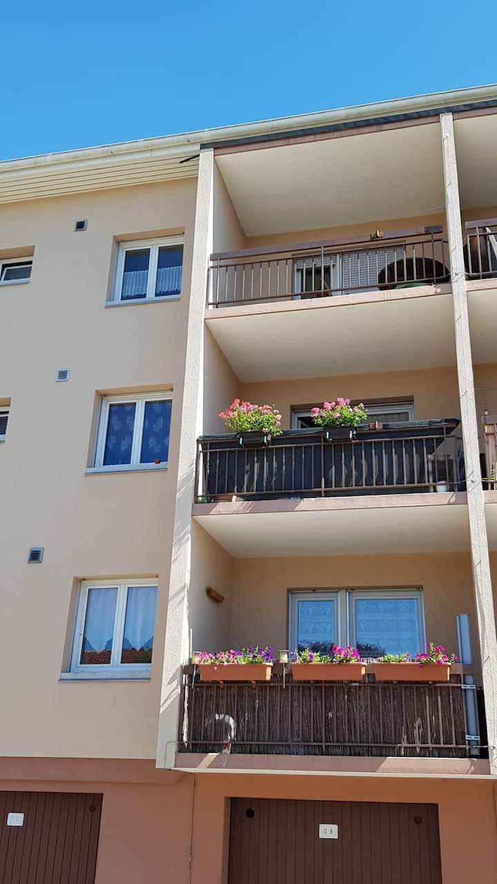 Charmant appartement coloré avec deux balcons