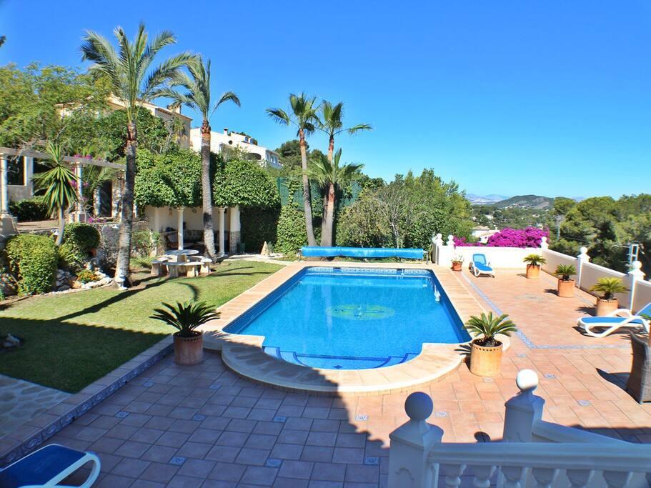Casa Tiby Javea, pool and gardens