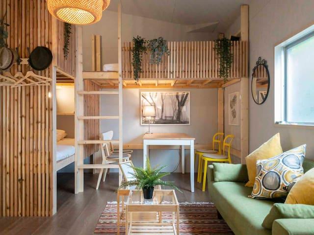 HyugaSurfcamp -3beds House & small 2beds Camper