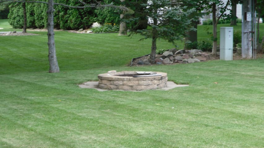 Firepit in back of home that you are welcome to use.