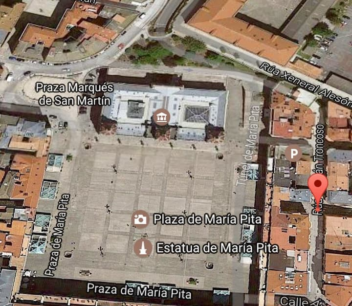 Piso centro Coruña Wifi, Garaje*, Bicicleta