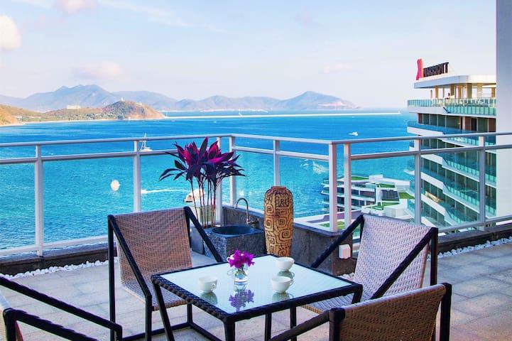 8房超大空中别墅,俯瞰整个大东海,管家服务含早餐
