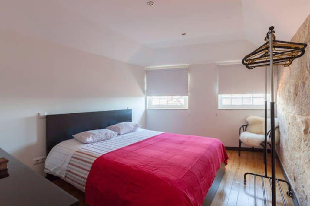 Sunny bedroom, double glazed windows