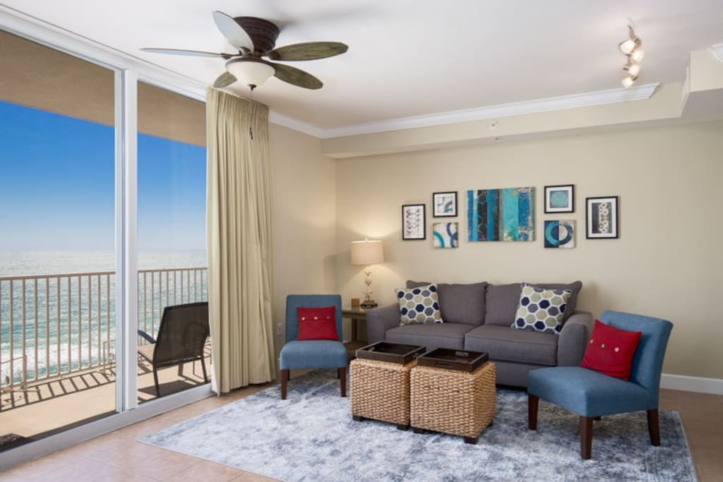Tidewater Beach Resort 1503 is the largest 1 bedroom floor plan and comfortably sleeps 6