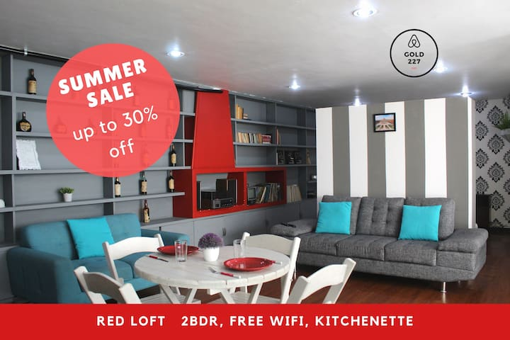 Red Loft Goldsmith,the perfect lodging! 2Bdrm*4pxs