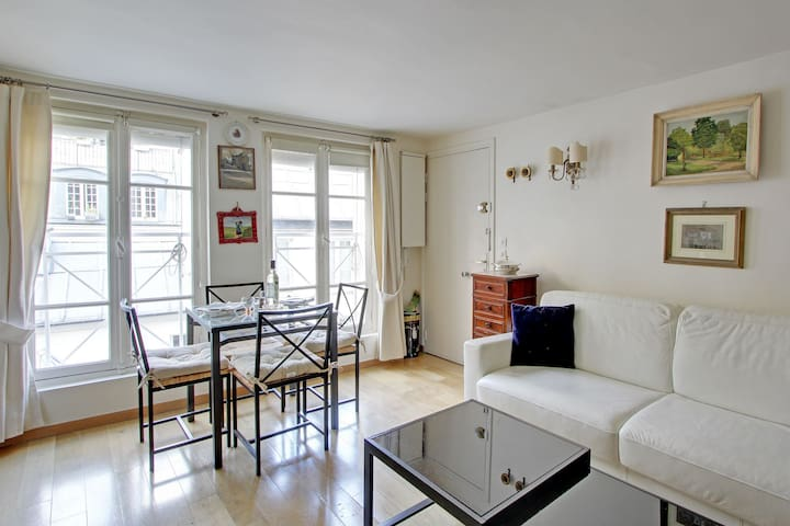S02011 - Light and peaceful studio for 2 people, metro Sentier