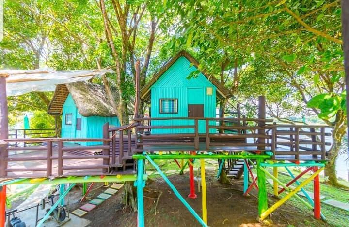 TREE HOUSES AND NIPA HUT