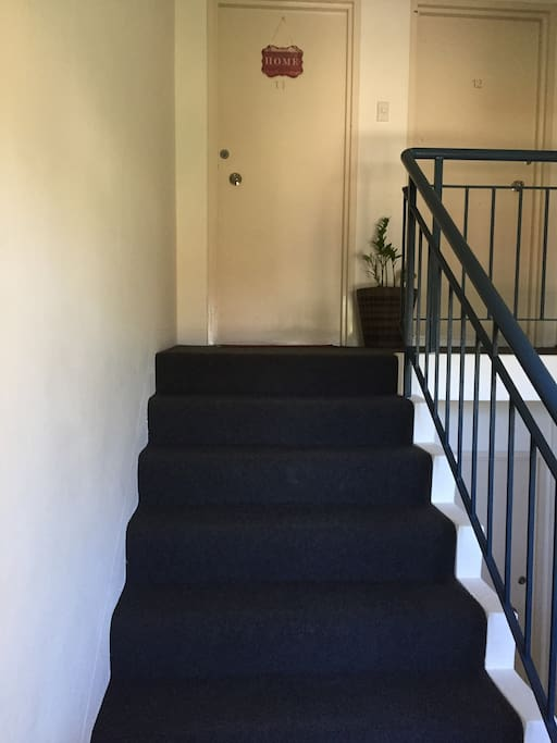 The front entry staircase... we are on the top floor (3rd) .