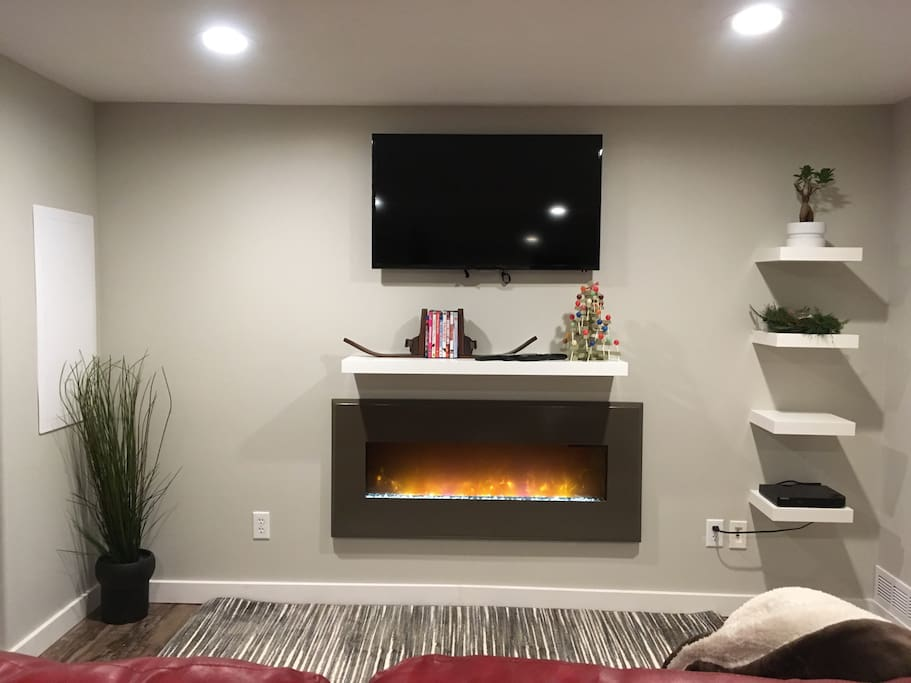 Entertainment center and electric fireplace