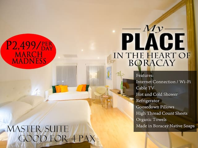 MY PLACE at the HEART of BORACAY for 4 Pax - Malay - Bed & Breakfast