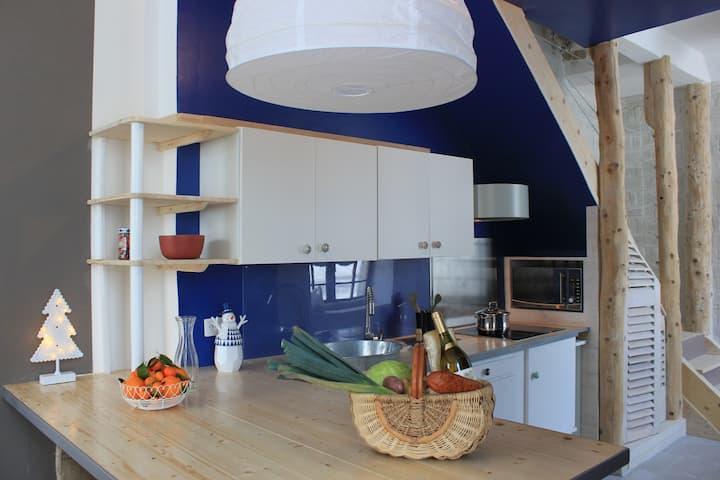 Appartement design épuré, esprit nature...