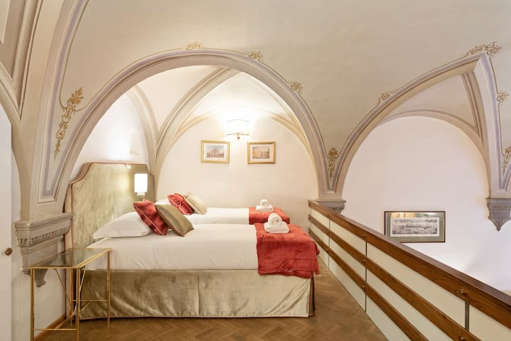 -The Mezzanine: two comfortable single beds-