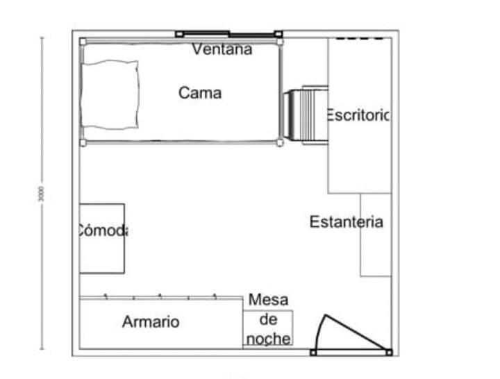 Habitación en casa de familia