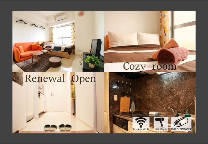 OPEN!!near Shinsaibashi&FREE WIFI - Ōsaka-shi - Apartment