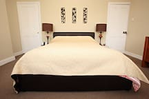 Arthouse King size Bedroom with flat screen TV