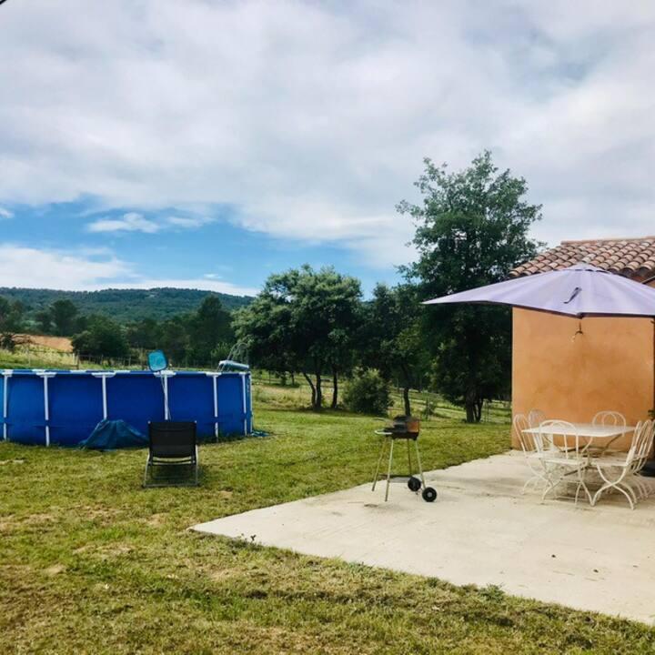 Maison piscine en campagne à 10mn du centre d'Aix