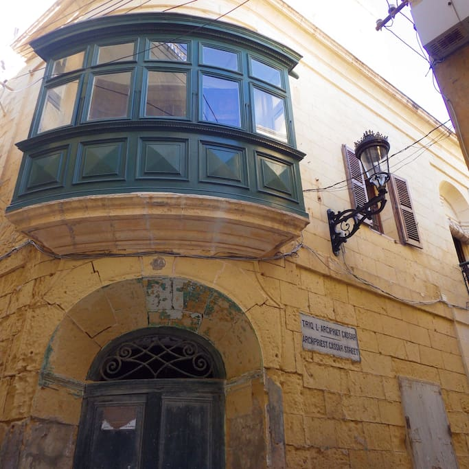 The balcony windows are called 'gallerija' in Maltese.  Ours is unusual as it is curved.