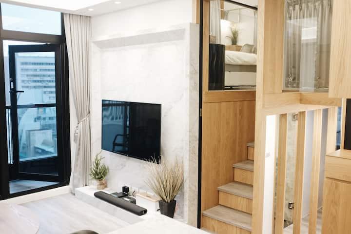 『 W101 五星酒店式公寓 | 豪華行政兩房 | 北歐 COZY 極簡自然風 Duplex 』長租