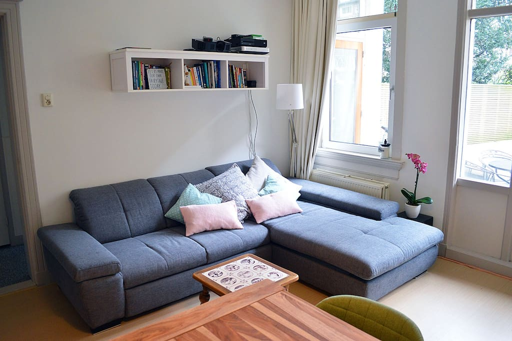 The living room with very comfortable sofabed