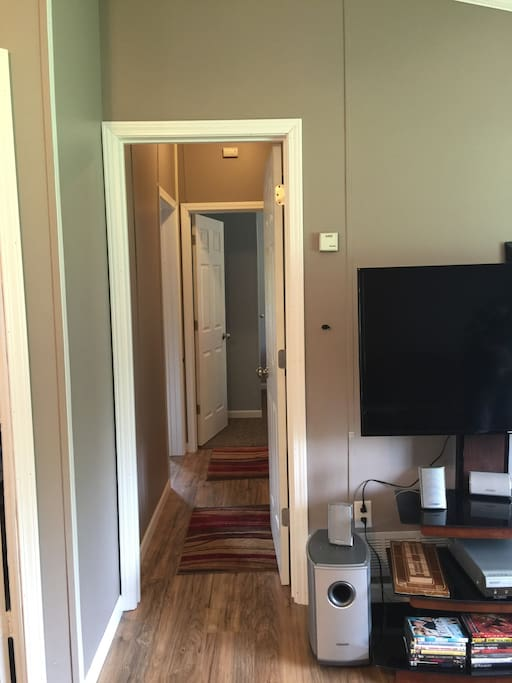 Private Keyed Area to 2 Rooms and Bathroom