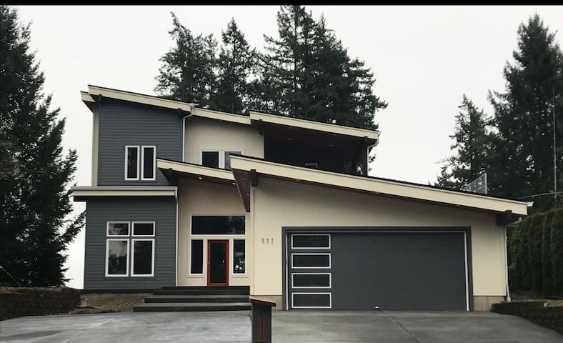 Large new home on South Puget Sound private island