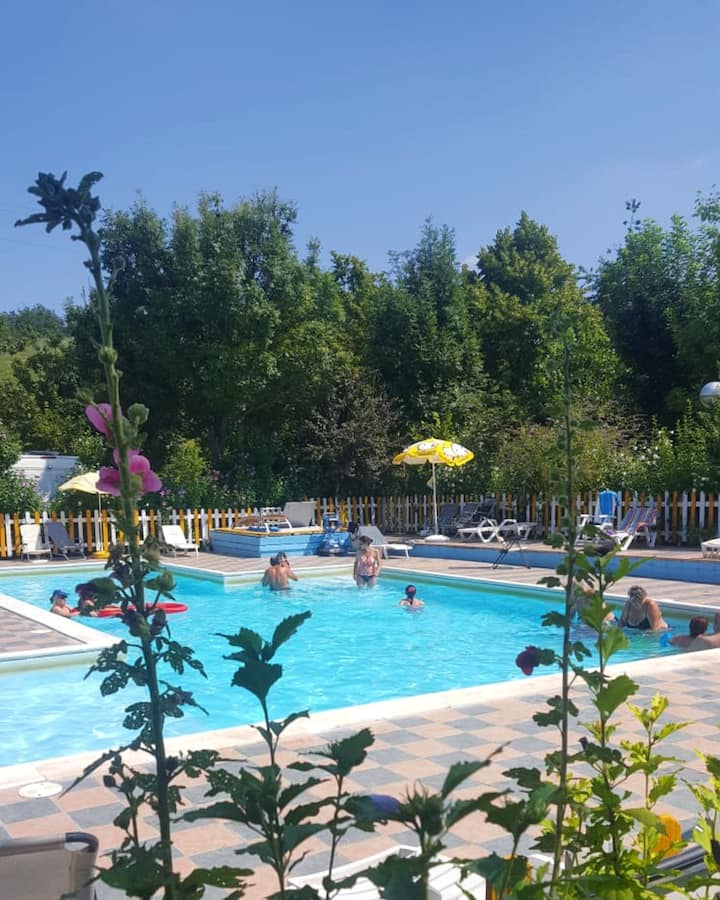 Bungalow with one bedroom in Maserno, with shared pool and furnished garden