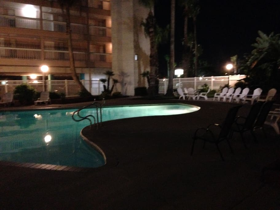 The pool in the 3rd building complex